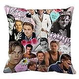 Leonardo Dicaprio Collage Pillow cover Size 20x20 inch