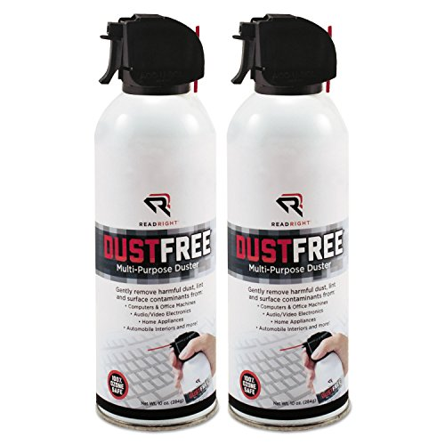 (Dust Free 100% Ozone Safe Spray Duster, 10 oz. Can, 2/Pack (REARR3722))