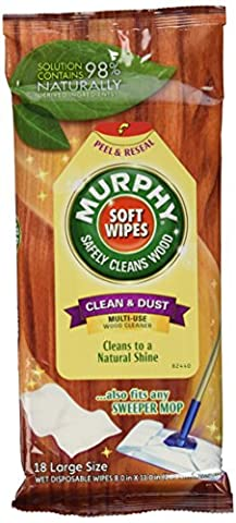 Murphy's Wet Disposable Soft Wipes, Large - 18 ea (Wood Floor Cleaning Tools)