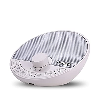 Homipooty Natural White Noise Machine Sound SPA Machine for Sleeping,Rechargeable Sleep Machine with 6 Sounds and Timer for Home,Office and Travel