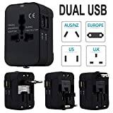 Aobiny Travel Adapter, World Universal Travel Adapter,with Dual USB Convertor Wall Plug Power