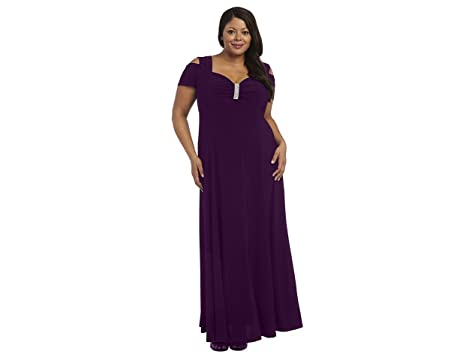 Rm Richards Plus Size Long Formal Dress Black Evening Gown Stretchy