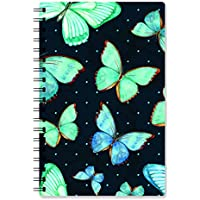 PRINTELLIGENT A5 Plain Wire Bound Notebook Planner (140 Pages)