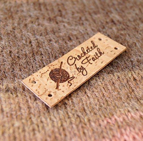 Vegan Cork Leather Labels Custom Garment Clothing Logo Tags Personalized