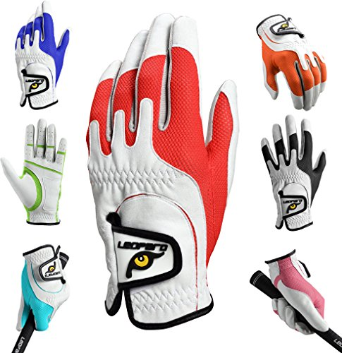 Leopard Kids Junior Kids Youth Toddler Boys Girls Golf Gloves Premium Synthetic Leather LH Golf Glove Stretch One Size Fits All