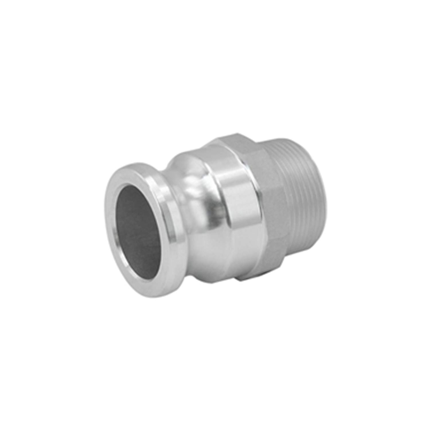 SAFBY 2 PCS Aluminum Global Type F Cam and Groove Hose Fitting 2 Plug x 2 NPT Male with 2 PCS 2 Camlock Gasket Fitting