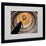 Trademark Fine Art US Capitol Rotunda by Gregory O'Hanlon Matted Framed Art, 16 by 20-Inch, Black Frame
