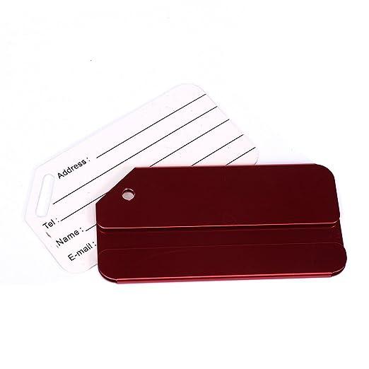 6863556e4e M.Q.L. viaggiare bagagli bagagli borsa metalli tag etichette valigia id  alluminio identificare privato tag etichette 6 colori diversi (6 colors for  blank): ...