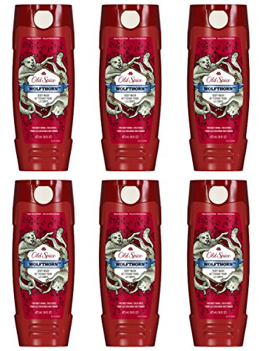 Old Spice Wild Collection Men's Body Wash, Wolfthorn, 16.0 Fluid Ounce (Pack of 6) from Old Spice