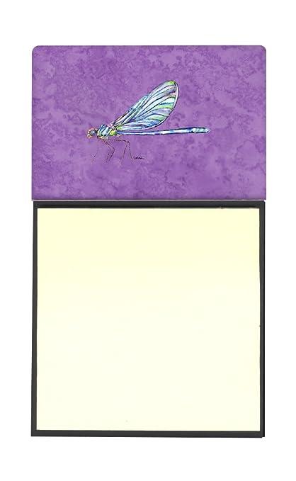 Libélula en morado Refiillable titular o de notas adhesivas Postit Nota dispensador 8865SN