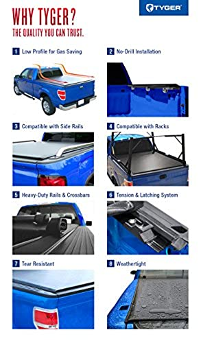Tyger Auto Tg Bc2c2059 Rolock Low Profile Rollup Truck Bed Tonneau Cover 2014 2018 Chevy Silverado