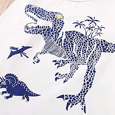 Voberry Children Pajamas Boys Dinosaur Pj Cotton Christmas Homewear Sleepwear Set Toddler Kids Clothes Set: Clothing