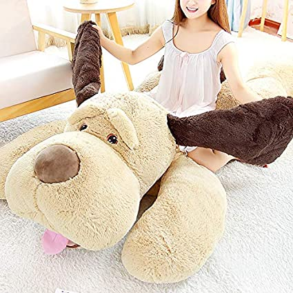 51 inch elfishgo Large Dog Plush Hugging Pillow,Soft Big Dogs Stuffed Animal Toys Giant Puppy Gifts for Kids