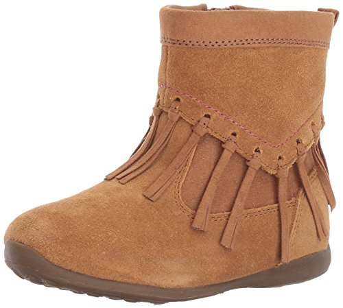 Stride Rite Girls' Viola Ankle Boot, Chestnut, 6.5 M US Toddler