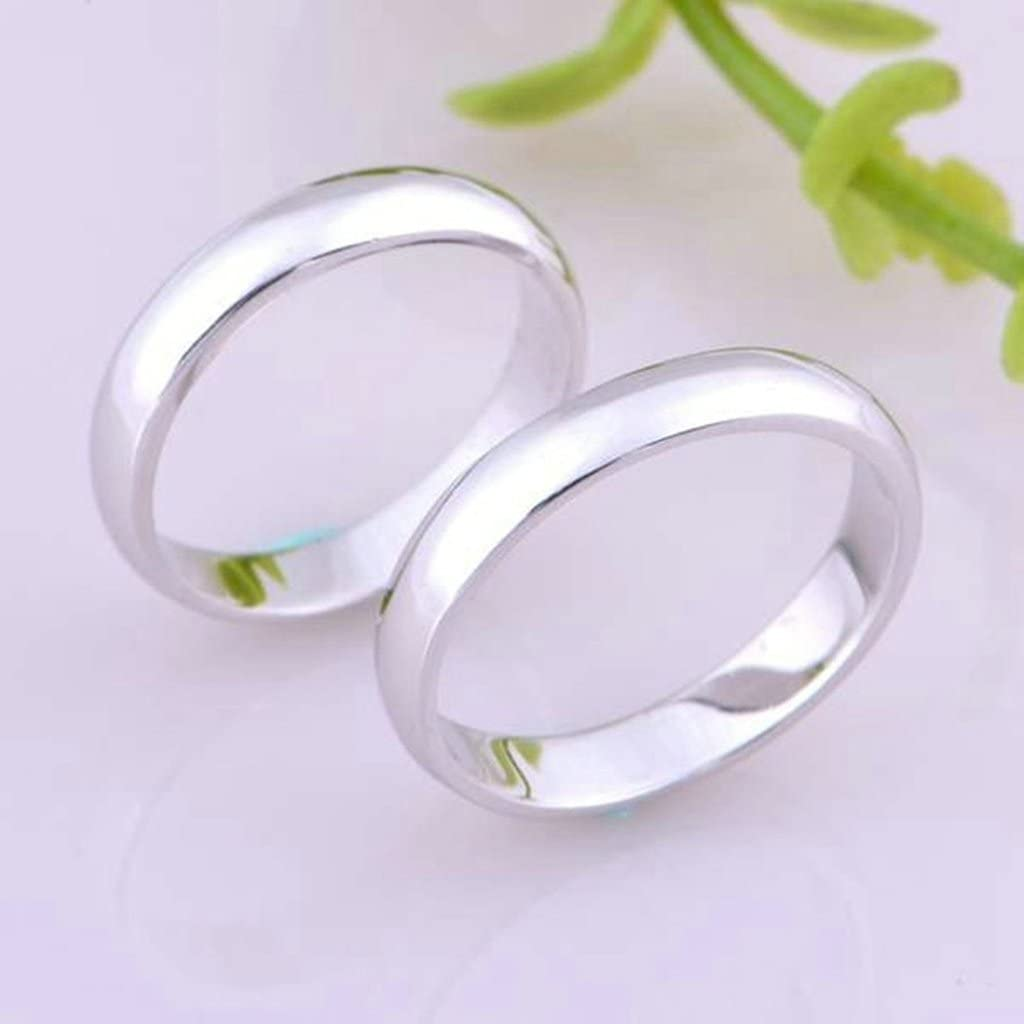 High Polish Comfort Fit 4mm Wedding Band Rings Mens Rings For His Size 6 Silver Gnzoe Jewelry