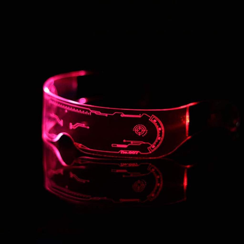 Occhiali con Luce Colorata Regolabile Occhiali Luminosi Occhiali da Bar per Feste da Ballo per Festival Musicali per Natale o Halloween e Altri Festival Adatti a Tutti i Festival (B)