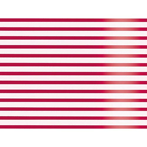 Metallic Red and White Stripes 30'' x 150' Gift Wrap Roll