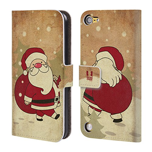 Head Case Designs Babbo Natale Weihnachtsklassiker Cover a portafoglio in pelle per iPod Touch 5th Gen / 6th Gen