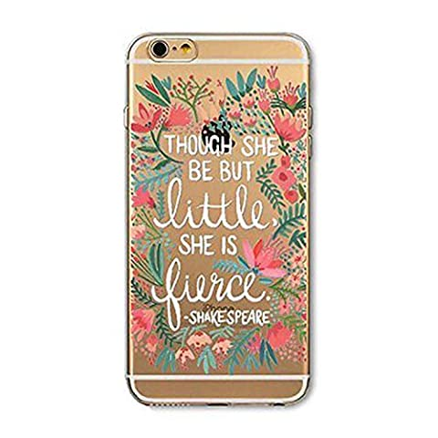 iPhone 5 / 5S / Se Compatible, Deco Fairy Ultra Slim Translucent Silicone Clear Case Gel Cover for Apple (Shakespeare Quotes iPhone 5 / 5S / (Disney Iphone 5s Silicone Case)