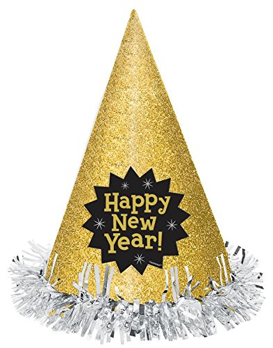 Amscan HAT CONE MINI GLTR HNY - (Happy Hanukkah Hat)