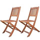Cheap LuuNguyen Patio Light Outdoor Hardwood Folding Chair Natural Wood Finish, 2 Piece