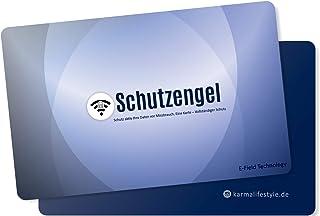 RFID Blocker Karte – NFC Schutzkarte für Kreditkarte – NFC Störsender für alle Kontaktlose Bankkarten und Personalausweis (Blau)
