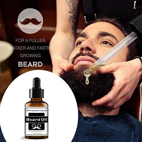 Beard Straightener, Hair Straightener Brush, Upgraded Quick Electric Heated Hair Comb Kit with Beard Oil, Hot Ionic Hair Straightening Comb, Ideal Gift for Men & Women