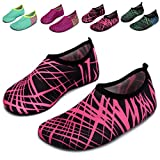 L-RUN Swimming Socks For Kids Baby Girl Boy Swim Shoes Rose Red M US 6-7=EU 22-23