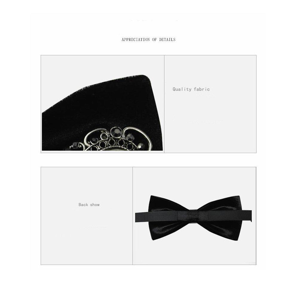 Mens Bowtie Handmade Customized Creative Wedding Unique Velvet Classic Pre-Tied Adjustable Satin Bow Tie Necktie