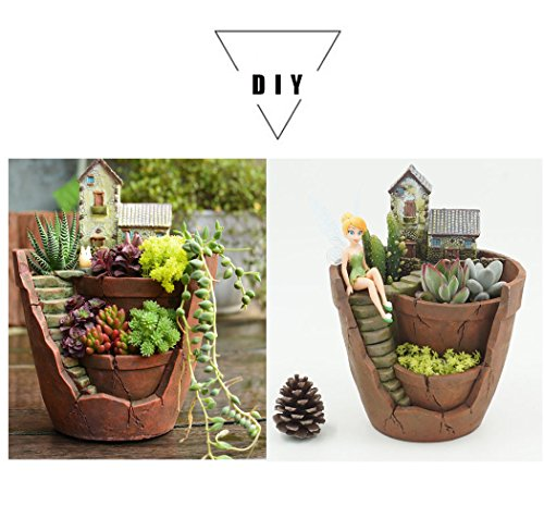 Plants pot hgrope tiny creative flower pot holders hanging for Garden design amazon