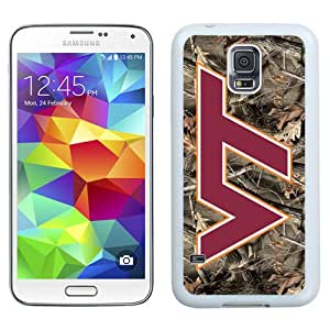 Beautiful And Popular Designed With NCAA Atlantic Coast Conference ACC Footballl Virginia Tech Hokies 4 Protective Cell Phone Hardshell Cover Case For Samsung Galaxy S5 I9600 G900a G900v G900p G900t G900w Phone Case White