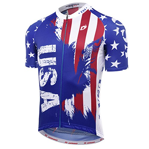 Dianno TEAM USA CLUB 3.0 Quality Breathable Cycling Jersey (BT312-jersey, - 3 Way Quasi