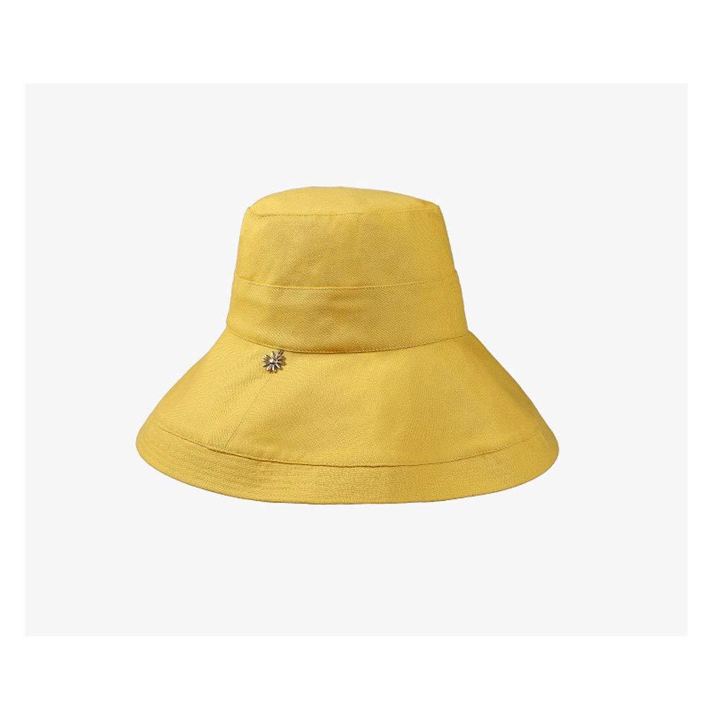 Ylik Foldable Cotton Bucket Hat for Summer Holiday Tourist Fishing,