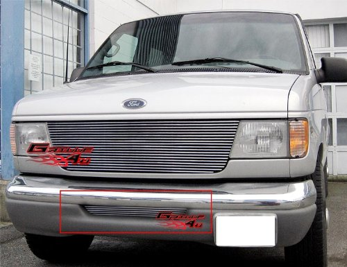 (APS Compatible with 1992-2007 Ford Econoline Van Bumper Billet Grille Insert #S18-A83356F)