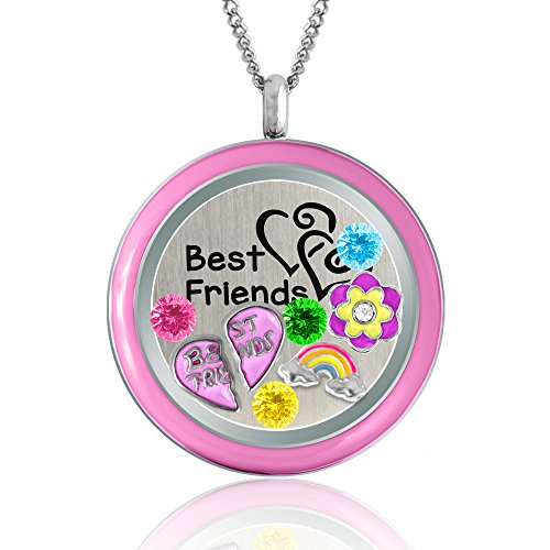 Price comparison product image Best Friends Locket Necklace- Charm Locket Friendship Love Gift BFF Fashion Jewelry