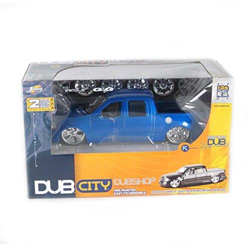 - Dub City 2003 Ford F-150 Supercrew Pick up Diecast Model Kit Blue