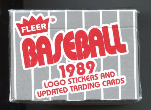 1989 Fleer UPDATE Set FACTORY SEALED Box 132 Cards WITH Rookies of Randy Johnson, Robin Ventura, Omar Vizquel, Jim Abbott, Deion Sanders. FREE SHIPPING