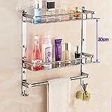 HOMEE Towel Rack Towel Stainless Steel 304 Bathroom Pendant Toilet Shelves Wall Folding
