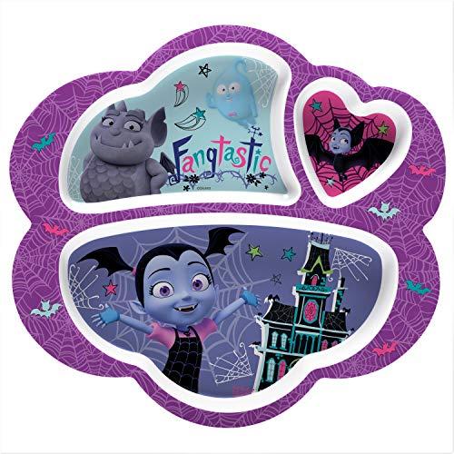 Melamine Plate Divided - Zak Designs VMPA-0010 Disney Jr. Kids Divided Plates, 8.6