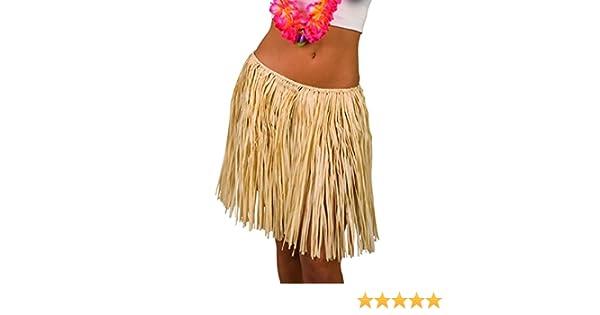 Falda de Rafia - Beis, 45 cm | Falda Hawaiana | Accesorio Fiesta ...