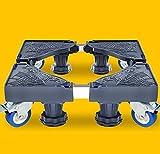 DSHBB Washing Machine Base, With 4 Locking Rubber Swivel Wheels Roller Dolly,Multi-function Trolley For Washing Machine Pedestal Fridge Base Rack (Color : Gray)