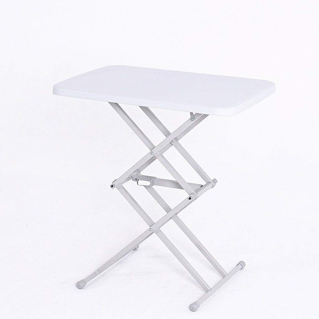 XJY Computer Table Folding Table Desk Study Table Lift Table Removable Table Multi-Purpose Easy to Store (Color : White)