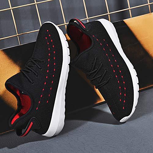 Hombres hasta Soles Rojo De Cómodos Complementos Zapatos Deportivos Malla Encaje Corriendo Zapatos Casual Exterior ALIKEEY qIp0wPwg