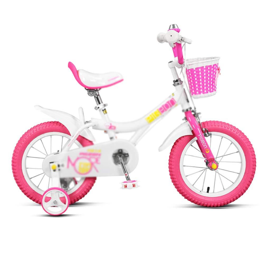 Bicicletas Niños Niña Montaña 12/14/16 Pulgadas Pedales para Niños Niños (Color : Pink, Size : 14inch(100cm35cm60cm))