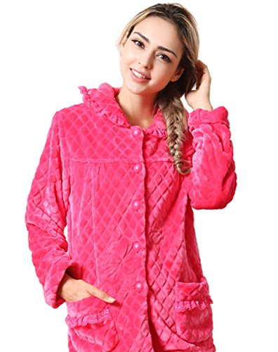 Tonwhar Women's Premier Cotton Flannel Pajama Sleepwear S...