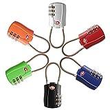 TSA Approved 6 Pack Alloy Body 3 Digit Combination Travel Luggage Locks TSA Approved Padlock