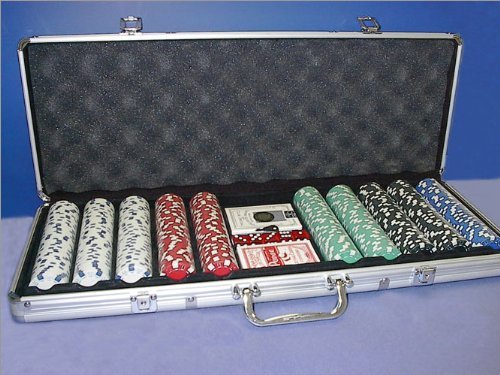 Royal Flush Poker Set W 500 11.5G Chips And Aluminum Case (Clay Royal Flush)