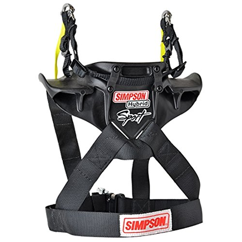 Simpson Hybrid Sport Head Restraint with Quick Release Tethers and D-Ring kit - Medium by Simpson Racing (Image #3)