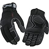 KINCO 2051-XL Men's Lined Cold Weather Gloves, MiraX2 Synthetic Leather Palm, Heat Keep Thermal Lining, AquaNOT Waterproof, X-Large, Black