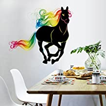 ufengke® Multicolored Horse Wall Decals, Living Room Bedroom Removable Wall Stickers Murals